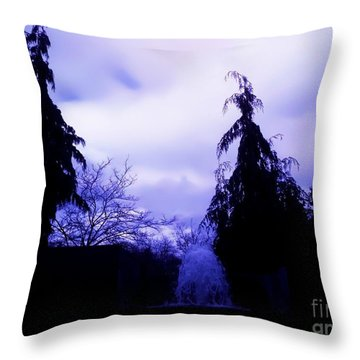 Throw Pillow featuring the photograph Water Fountain At Alderwood Business Center In Lynnwood Washington by Eddie Eastwood