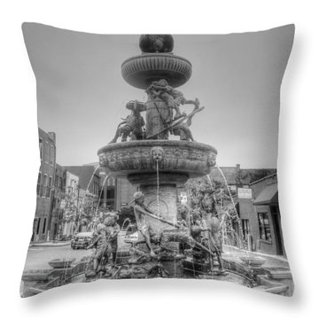 Water Fountain Throw Pillow by Kathleen Struckle