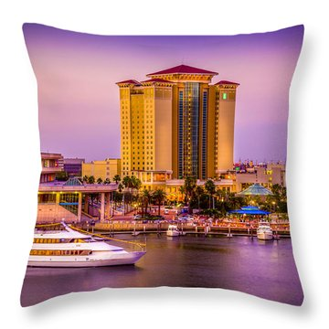 Water Front Tampa Throw Pillow by Marvin Spates