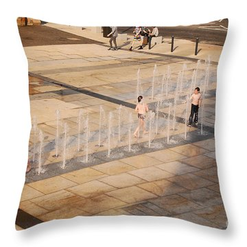 Water Fun Throw Pillow by Mary Carol Story