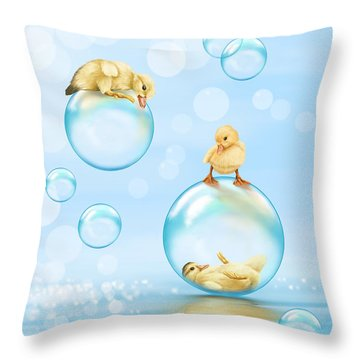 Water Games Throw Pillow