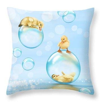 Water Games Throw Pillow