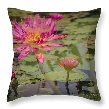 Water Garden Dream Throw Pillow