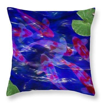 Water Garden Throw Pillow by Jack Zulli