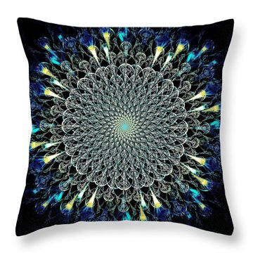 Water Glyph Throw Pillow by Anastasiya Malakhova