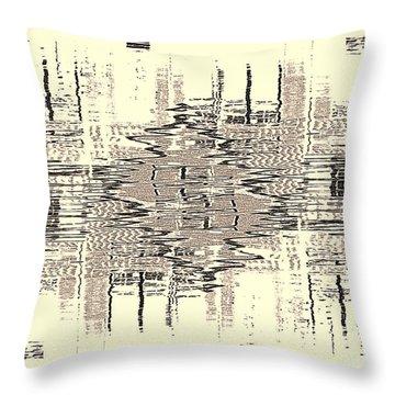 Water  Graph Throw Pillow