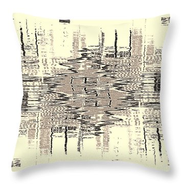 Throw Pillow featuring the photograph Water  Graph by Luc Van de Steeg