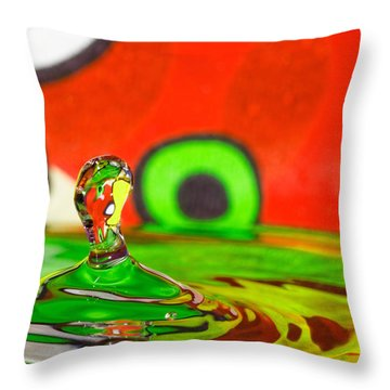 Throw Pillow featuring the photograph Water Hill by Peter Lakomy