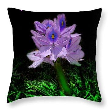 Water Hyacinth - Psalm 97 Throw Pillow