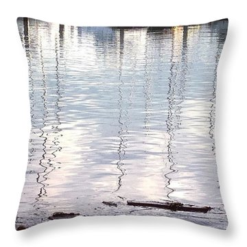 Masts Reflected Throw Pillow
