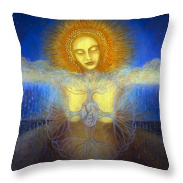 Water Life Blood Throw Pillow