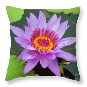 Water Lilies 005 Throw Pillow