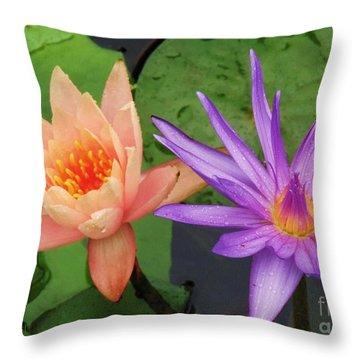 Water Lilies 011 Throw Pillow