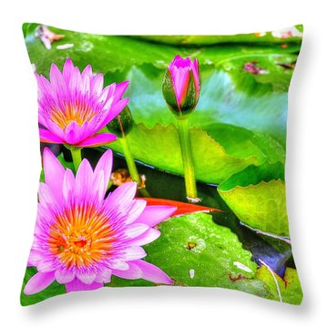 Water Lilies 2 Throw Pillow