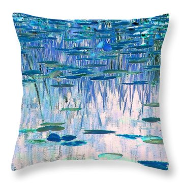 Water Lilies Throw Pillow by Chris Anderson