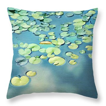 Water Lilies Throw Pillow by Darren Fisher