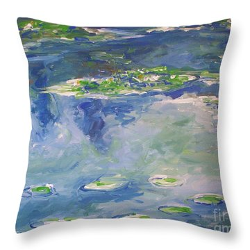 Water Lilies Giverny Throw Pillow by Eric  Schiabor