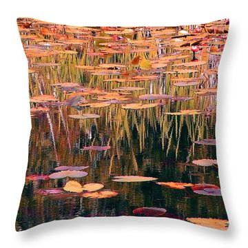 Water Lilies Re Do Throw Pillow