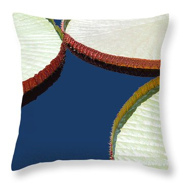Water Lilly Platters Throw Pillow