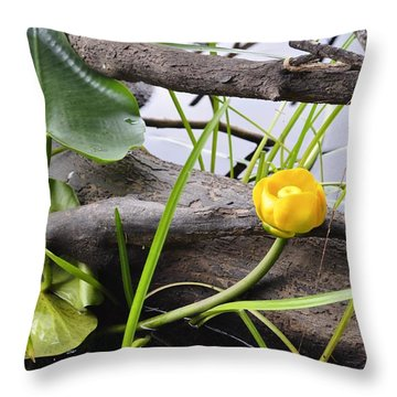 Throw Pillow featuring the photograph Water Lily by Cathy Mahnke