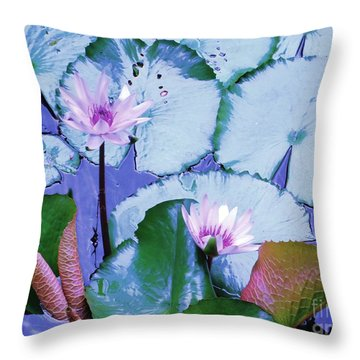 Throw Pillow featuring the photograph Water Lily II by Ann Johndro-Collins