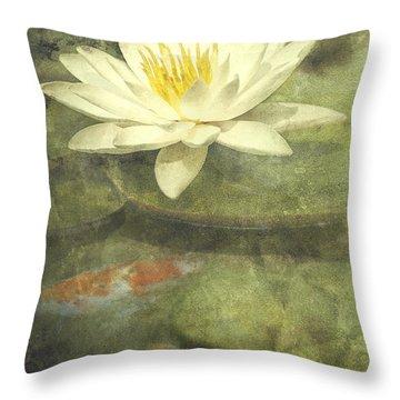 White Water Lily Throw Pillows