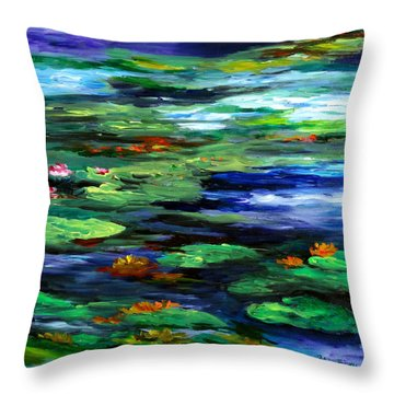 Water Lily Somnolence Throw Pillow