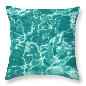 Water Meditation I. Five Elements. Healing With Feng Shui And Color Therapy In Interior Design Throw Pillow