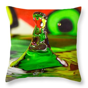Throw Pillow featuring the photograph Water Mountain by Peter Lakomy
