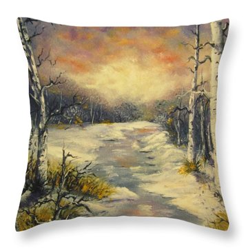 Throw Pillow featuring the painting Water Music  by Megan Walsh