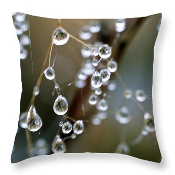Water Pearls Throw Pillow by Heiko Koehrer-Wagner