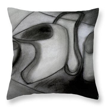 Water Pitcher And Cups Throw Pillow