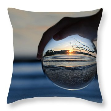 Water Planet Throw Pillow by Laura Fasulo