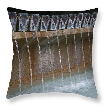 Throw Pillow featuring the photograph Water Play Fountain by Jeanette French