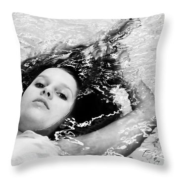 Water Portrait Throw Pillow
