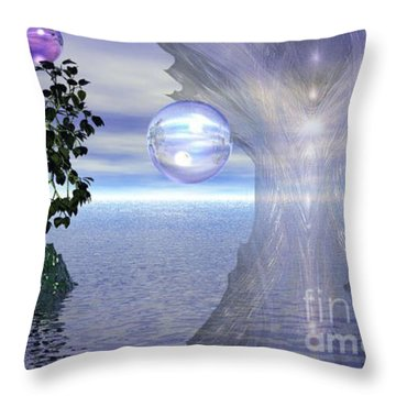 Throw Pillow featuring the digital art Water Protection by Kim Prowse