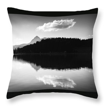 Water Reflection Black And White Throw Pillow by Matthias Hauser