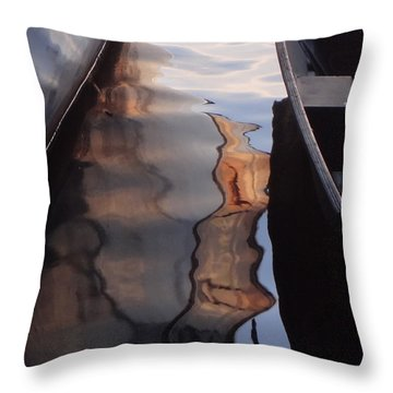 Water Reflections Abstract Throw Pillow by Carol Berning