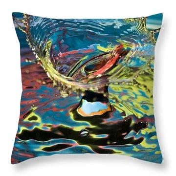 Water Splash Exploding Throw Pillow
