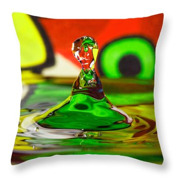 Throw Pillow featuring the photograph Water Stick by Peter Lakomy