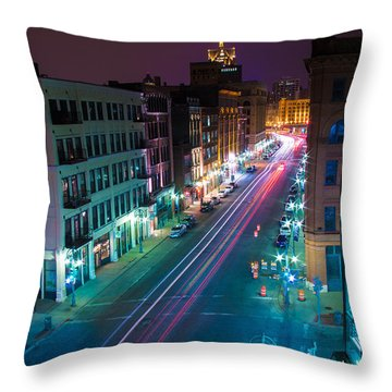 Water Street Zip Throw Pillow by Andrew Slater