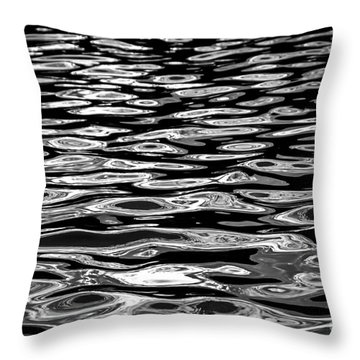 Water Surface Abstract Throw Pillow by Elena Elisseeva