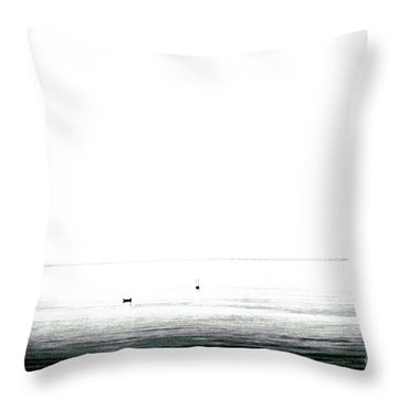 water the end J O Y Throw Pillow