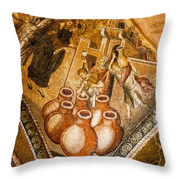Water To Wine Throw Pillow by Bob Phillips