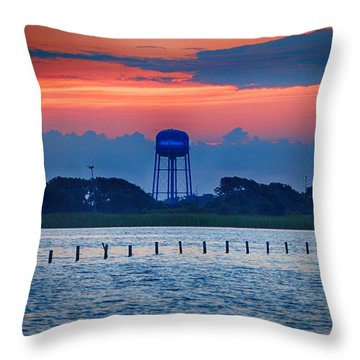 Throw Pillow featuring the digital art Water Tower by Michael Thomas