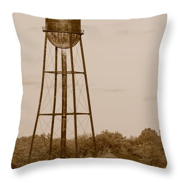 Water Tower Throw Pillow by Olivier Le Queinec