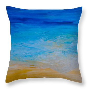 Water Vision Throw Pillow