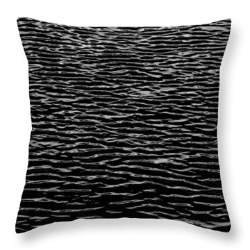 Water Wave Texture Throw Pillow by Edgar Laureano