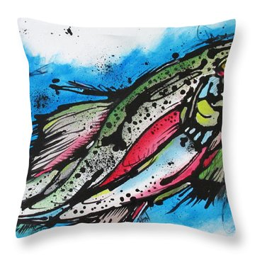 Throw Pillow featuring the painting Water Way by Nicole Gaitan