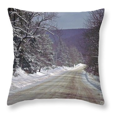 Throw Pillow featuring the photograph Water Wells Rd by Christian Mattison